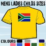 SOUTH AFRICA FLAG EMBLEM T-SHIRT ALL SIZES & COLOURS